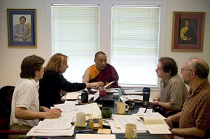 Karma Senge Rinpoche meets with the Translation Committee.