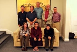 Lama Tenzin with Nalanda Translation Committee, September 2010.