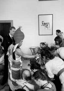 The Sakyong bestows the Kurukulla Abhisheka. Photo by Marvin Ross.