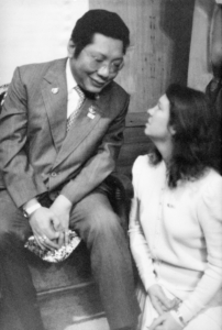 Trungpa Rinpoche and Polly Monner Wellenbach.