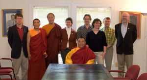 Karma Senge Rinpoche with Lama Ngodup & the Committee. Photo by Marvin Moore.