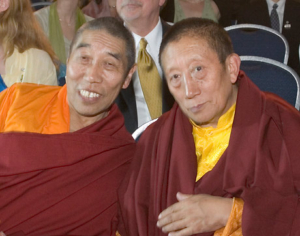 Sönam Tobgyal Rinpoche and Lama Pejal. Photo by Marvin Moore.
