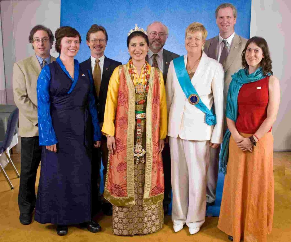 Sakyong Wangmo, Druk Sakyong Wangmo, and NTC. Photo by Marvin Moore.