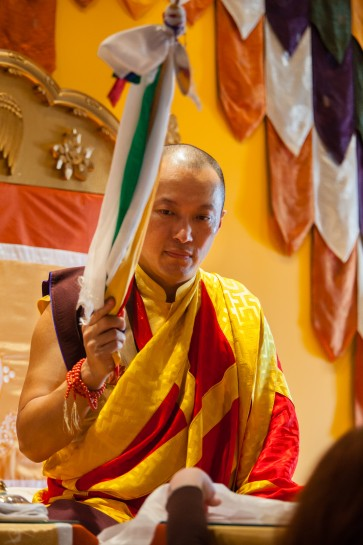 Sakyong Mipham Rinpoche bestows empowerment in Halifax, 2012. Photo by Marvin Moore.