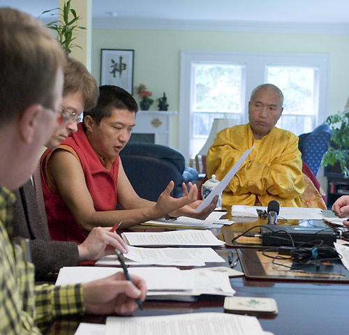 Meeting with Namkha Drimed Rinpoche and Jigme Rinpoche in Halifax. Photo by Marvin Moore.