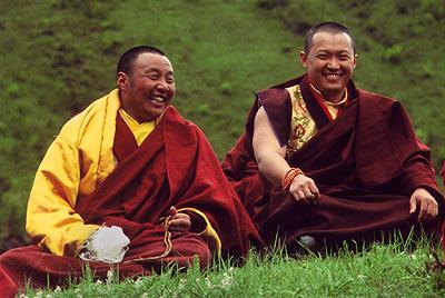 Karma Senge and Sakyong Mipham Rinpoches enjoy the view together. Photo by Diana Church