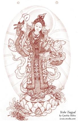 Yeshe Tsogyal Banner. By Cynthia Moku.