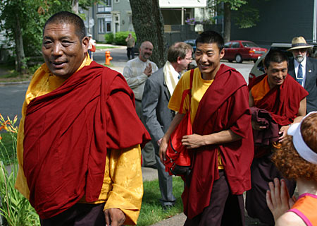 Damcho Rinpoche arrives at Shambhala Centre in Halifax. Photo by Marvin Moore.